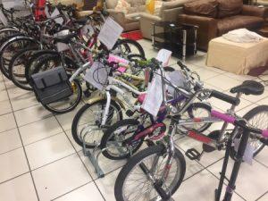 Bikes on display